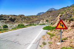 Bullet holes in a road sign, Crete, Greece Royalty Free Stock Photos