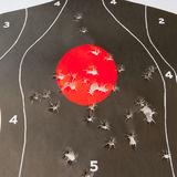 Bullet holes in the target Stock Image
