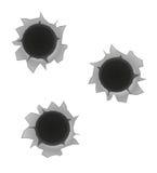 Bullet holes vector illustration Stock Photo
