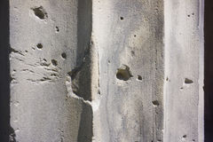Bullet Holes on a Wall Stock Photos