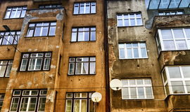 Bullet holes in a wall building in Sarajeva, Bosnia and Herzegovina. Bullet holes in a facade wall building in Sarajeva, Bosnia and Herzegovina royalty free stock images