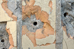 Bullet holes in the wall Stock Image