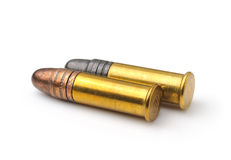 Bullet isolated on white Royalty Free Stock Photo