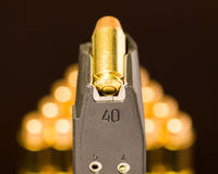 Bullet and Magazine Royalty Free Stock Photography