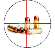 Bullet Military Tactical Crosshairs Right to Bear Arms Stock Photo