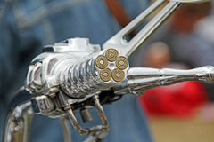 Bullet motorcycle handle grip Royalty Free Stock Images