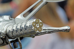 Bullet motorcycle handle grip Royalty Free Stock Photo