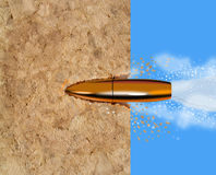 Bullet penetrating a wood Royalty Free Stock Photography