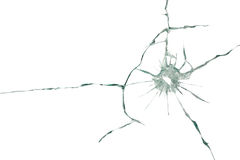 Bullet pierced the glass. Abstract background Royalty Free Stock Photography