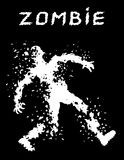 A bullet-riddled body of zombies silhouette. Vector illustration. Royalty Free Stock Photography