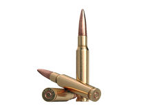 Bullet rifle caliber. For hunting and protection. 3D graphic stock illustration
