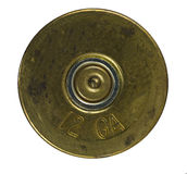 Bullet Shell casing bottom stock photo