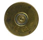 Bullet Shell casing bottom. Isolated on white Stock Photo