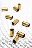 Bullet Shells Over Iraq Royalty Free Stock Photo