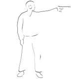 Bullet shooting. Pistol shooting Royalty Free Stock Images