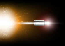 Bullet shot. Illustration power of silver bullet Royalty Free Stock Photos