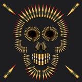 Bullet Skull Stock Photo