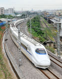Bullet train. On the road in China Stock Photo