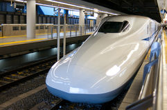 Bullet Train. The engine of a bullet train waits to depart shinagawa station in Tokyo, Japan Stock Photos