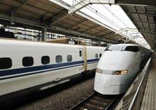 Bullet train. Japan bullet train shinkansen  at station Royalty Free Stock Photo