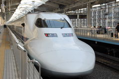 Bullet train. Shinkansen bullet train in Japan stock image