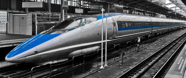 Bullet Train. Japanese Bullet Train - public transportation Royalty Free Stock Photo