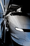 Bullet Train. Japanese Shinkansen waits to depart Royalty Free Stock Photography