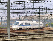 Bullet train departs from Beijing, China Stock Photography