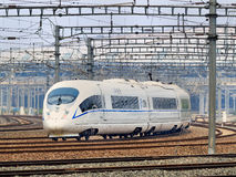 Bullet train departs from Beijing, China Royalty Free Stock Image