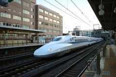 The bullet train stock image
