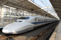 Bullet train at Kyoto station royalty free stock photography