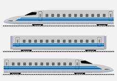 Bullet Train or Passenger express train Royalty Free Stock Photos