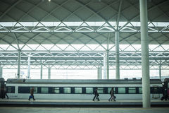 Bullet Train at Platform Royalty Free Stock Images