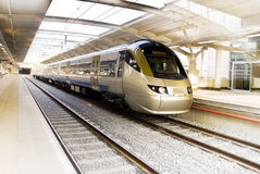 Bullet Train, South Africa - Gautrain. High Speed Commuter Rail - The Gautrain. Built by the Bombela Consortium, includes Montreal-based Bombardier Inc - world's stock image