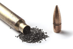 Bullet On White Stock Photography