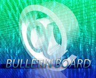 Bulletin board Stock Photos