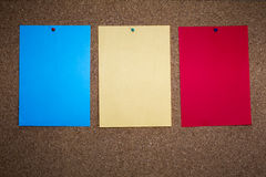 Bulletin board blank paper Royalty Free Stock Image