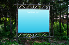 Bulletin board in forest Royalty Free Stock Images