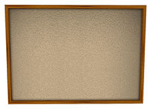 Bulletin Board Framed Blank Empty Space. A blank bulletin board in wood frame and lots of space for you to place pictures and papers Stock Photos