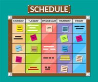 Free Bulletin Board Full Of Tasks On Sticky Note Cards. Royalty Free Stock Images - 108018569