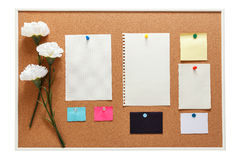 Bulletin board with note paper Royalty Free Stock Photography