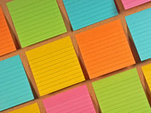 Bulletin Board Notes Stock Photos