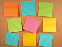 Bulletin Board Notes Royalty Free Stock Image