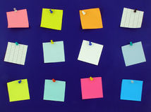 Bulletin board notes Royalty Free Stock Images