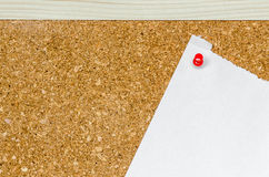 Bulletin board or notice board Stock Photo