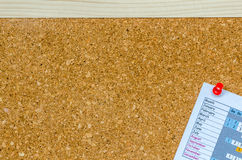 Bulletin board or notice board Stock Images