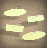 Bulletin Board Pushpin Papers Share Message Group Office  Stock Images
