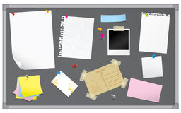 Bulletin board with stationery Royalty Free Stock Images
