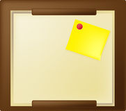 Bulletin board with a sticker Royalty Free Stock Image