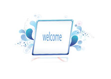 Bulletin board and welcome posts Stock Image